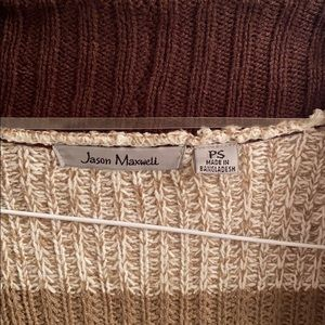 jason maxwell Sweaters - 5/$25 Jason Maxwell Brown Striped Cardigan